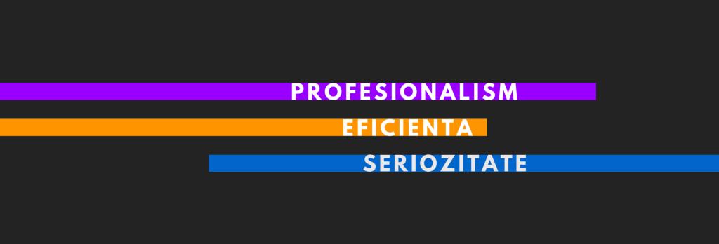 PROFESIONALISM, EFICIENTA, SERIOZITATE